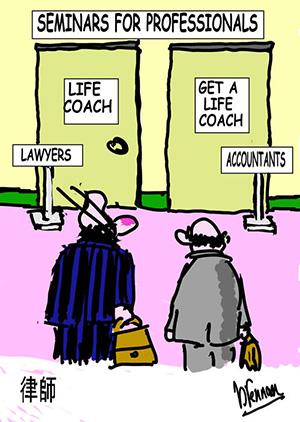 Legal cartoon, accountant, Paul Brennan