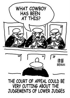 legal cartoon, court of appeal, Paul Brennan