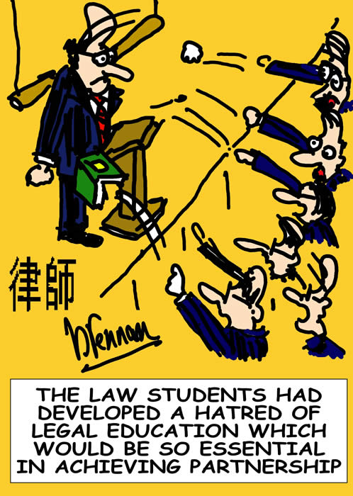 legal education, legal cartoon, Paul Brennan