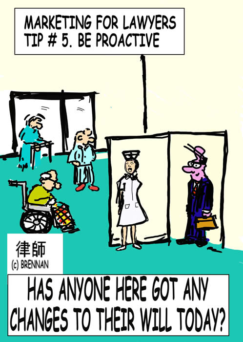 legal cartoons, wills, lawyers, attorney, retirement homes, Paul Brennan