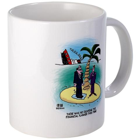 legal cartoon, financial planners mug, paul brennan